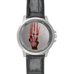 Birthday Gifts Classic Help me people with bloody hand Black Leather Alloy High-grade Watch * Quickly view this special  product, click the image : Travel Gadgets