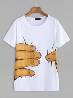 Refeeldeer Impression t-shirt Femmes 2017 D'é Manches Courtes t-shirt Femelle Lâche Blanc Tops T-shirt Femme T-shirt Femmes Button Down Shirt Outfit Casual, White Shirt Outfits, Casual Shirts, Simple Shirts, Cool T Shirts, Shirt Print Design, Shirt Designs, Casual Summer Outfits, Outfit Summer