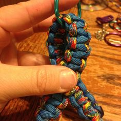 Autism awareness ribbon paracord keychain