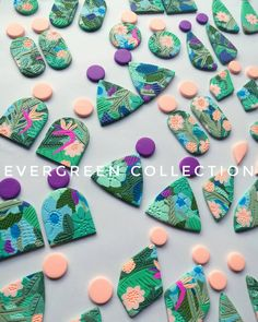 EVERGREEN COLLECTION Ready to be sanded today it's similar to the 'escape to the jungle' design I did last restock but as always they…