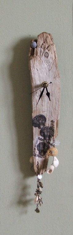 driftwood clock by LittleBCollectables on Etsy ~ my first driftwood clock ~ love it!