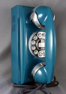 antique refurbished wall phone