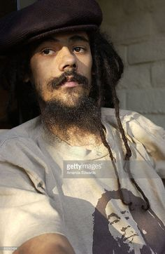 Photo of Damien MARLEY; Damian Marley, photographed on the balcony of his hotel in the Studio City section of Los Angeles, California., 4 August, 2005
