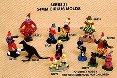 Circus Molds for mold making. Circus figure molds.