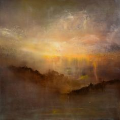 """Xanadu"" oil on linen 36""x36"" by Maurice Sapiro I believe he is an artistic genius!"