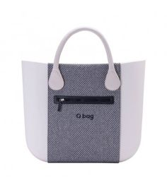 O bag .fascia con tasche micro texture chicco di caffè blu