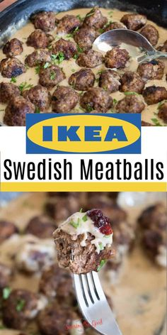 Ikea Meatballs, Meatballs And Gravy, Swedish Meatballs Sauce, Sweedish Meatballs, Swedish Meatball Recipes, Swedish Recipes, Ikea Swedish Meatball Sauce Recipe, Meat Recipes, Cooking Recipes