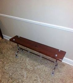 Reclaimed Wood Bench with Galvanized Pipe by TWDesignsWarsaw