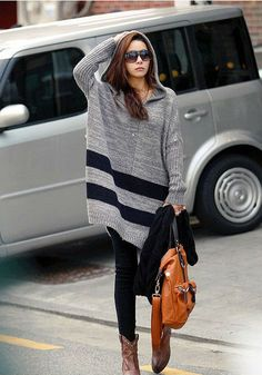 New Arrival Women's Loose Hooded Long Sweaters - BuyTrends.com