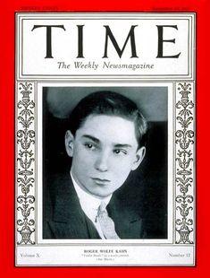 TIME Cover - Vol. 10 Nº 12: Roger W. Kahn | Sep. 19, 1927               http://en.wikipedia.org/wiki/Roger_Wolfe_Kahn