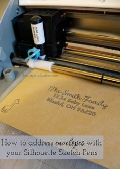 How to address envelopes with your Silhouette Sketch Pens