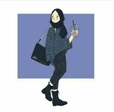 New fashion drawing sketches art girl 15 ideas Hijab Anime, Anime Muslim, Fashion Design Drawings, Fashion Sketches, Fashion Drawing Tutorial, Drawing Tutorials, Tmblr Girl, Hijab Drawing, Islamic Cartoon