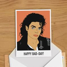 Hey, I found this really awesome Etsy listing at https://www.etsy.com/listing/475144569/michael-jackson-bad-greeting-card-woman