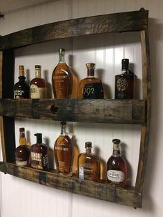 Latest No Cost Bottle display Tips, Bourbon Bottle Display Shelf. Great for Man Caves. Man Cave Garage, Garage House, Man Cave Basement, Man Cave Room, Man Cave Diy, Man Cave Home Bar, Rustic Man Cave, Modern Man Cave, Western Man Cave Ideas
