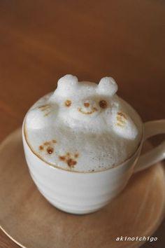 3D polar bear coffee latte