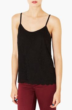 Topshop Scallop Lace Camisole available at #Nordstrom