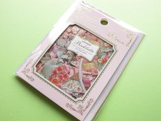 Classic Sticker Flakes Sack Antique Booklatte *Happy Birthday Q-LiA (71398)