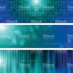 Blue and green color pattern background banner set royalty-free blue and green color pattern background banner set stock vector art & more images of backgrounds