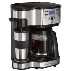 Buy Hamilton Beach Two Way Brewer Single Serve and Coffee Maker, Stainless Steel securely online today at a great price. Hamilton Beach Two Way Brewer Singl. Best Drip Coffee Maker, Single Coffee Maker, Single Serve Coffee, Espresso Machine, Coffee Maker Machine, Coffee Machines, Espresso Maker, Coffee Maker Reviews, Coffee Drinkers