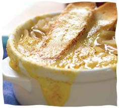 To me, the best part of French Onion Soup is eating it out of a soup crock with the melted cheese. Of course, lots of people love the onion soup as is—and this does happen to be a phenomenal recipe—but on this one, I'm an all-or-nothin' gal...