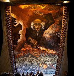 Mural painted by Jose Clemente Orozco