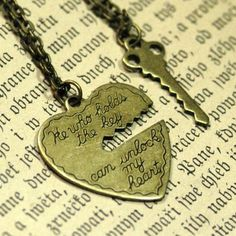 I think im in love <3 this is perfect...i have always wanted a heart and key necklace. I just found it <3
