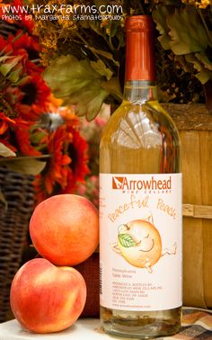 Local PA peach wine from Arrowhead Wine Cellars available at Trax Farms. & 8 best Local PA Wines at Trax images on Pinterest | Cellar doors ...
