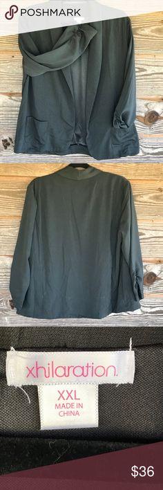 Women's Gray Blazer NWOT Women's Dark Gray Blazer Size XXL Xhilaration Jackets & Coats Blazers