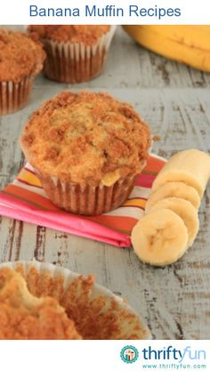 As a healthy breakfast addition or afternoon snack, a banana muffin is delicious. This page contains banana muffin recipes.