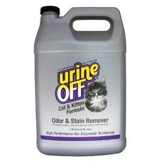 Your Bargain Price: $20.63 [ List Price: $ 113.99, Your Bargains Savings: $ 93.36 (82%)]. Urine Off Odor and Stain Remover for Cats, 1 Gallon. You love your cat, but the smell of urine in your home is unbearable. Urine Off is guaranteed to completely and permanently remove urine stains and odors, even they're old and set it. Recommended for use by pet groomers, trainers, kennels, and veterinarians, Urine Off's bio-enzymatic formula not only cleans cat urine stains and smells.