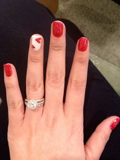 Nicole Valentine nails #valentine #red #love