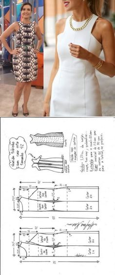 Vestido tubinho cava reta – DIY – molde, corte e costura – Marlene Mukai