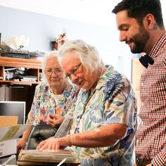 Jeremy with his Grandmas. Im so in love with this man!
