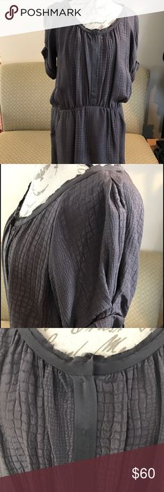 Rebecca Taylor Silk Dress Beautiful Rebecca Taylor silk dress. The color is a purple gray with an alligator print. Size 8. Excellent used condition. Rebecca Taylor Dresses Mini