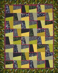 Against the Rail By Alexander, Karla x Uses Creative Grids and Project Time: 6 Hour+, Fabric Type: Square Friendly, Project Type: Quilt Scrappy Quilts, Easy Quilts, Small Quilts, Children's Quilts, Batik Quilts, Quilt Baby, Quilt Block Patterns, Quilt Blocks, Quilting Projects