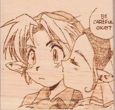 Be Careful OK? - A panel from the Ocarina of Time Manga.