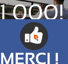 1 000 Fans FB Merci