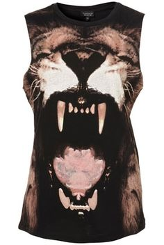 Lion Tank - New In This Week - New In - Topshop USA - StyleSays