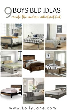 Ranch Home Remodel 9 cute boys bed ideas, get the modern industrial look! Love this modern farmhouse wood and metal bed ideas, complete any boys bedroom with lots of storage options. Cute Bedroom Decor, Bedroom Themes, Bedroom Ideas, Vintage Industrial Decor, Modern Industrial, Boys Space Bedroom, Boy Room, Creative Kids Rooms, K Om
