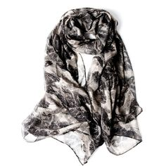 Everest Print Silk Scarf