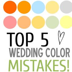 The Perfect Palette - awesome website that allows you to click on a color and see amazing photos using palettes with your color. Great ideas for weddings & parties!