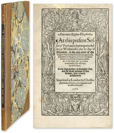 Anno XXIX. Reginae Elizabethae, London, 1587, Beale S301 | Great Britain, Statutes, Elizabeth I.