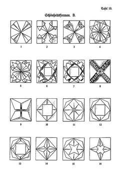Das Falten Friedrich Fröbel Origami.
