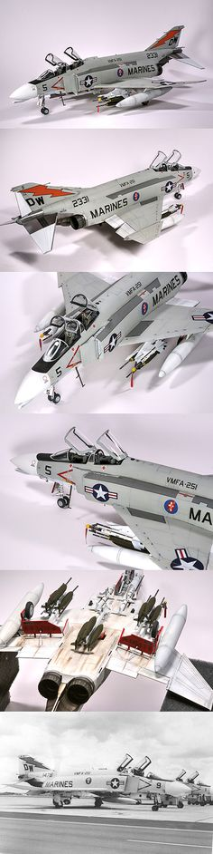 1:48 Academy F-4B with various aftermarket goodies and Furrball Decals.