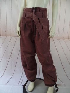 Marithe Francois Girbaud Pants L Light Brown Poly Cotton Thin Wale Corduroy Chic
