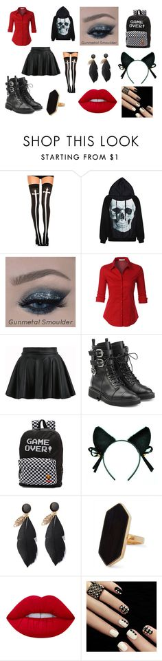 """""""Untitled #14"""" by fallen-wolf ❤ liked on Polyvore featuring Chicnova Fashion, LE3NO, Giuseppe Zanotti, Vans, Jaeger and Lime Crime"""