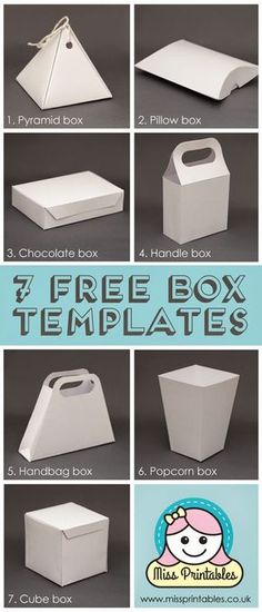 Miss Printables: Blank box templates - freebie!: