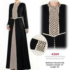 Black and dot dress Batik Fashion, Abaya Fashion, Muslim Fashion, Fashion Dresses, Dot Dress, Dress Skirt, Kimono Abaya, Hijab Style Dress, Abayas