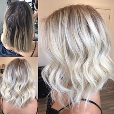 """Hottes Hair Design on Instagram: """"Starlight Blonde ⭐️ starting with a full head of blonde foils using @wellahair blondor roots 9% ends 1.9%+ @olaplex Rinse and dry off. Paint…"""""""