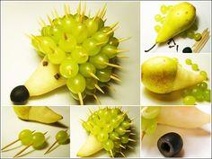Una tierna manera de que los niños coman fruta.